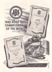 AJS - 1949 ROAD RACE CHAMPIONSHIP OF THE WORLD - ORIGINAL ADVERTISEMENT - A94
